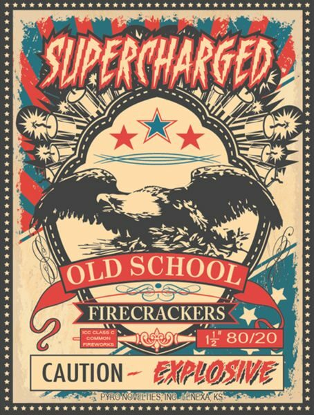 old school firecracker front