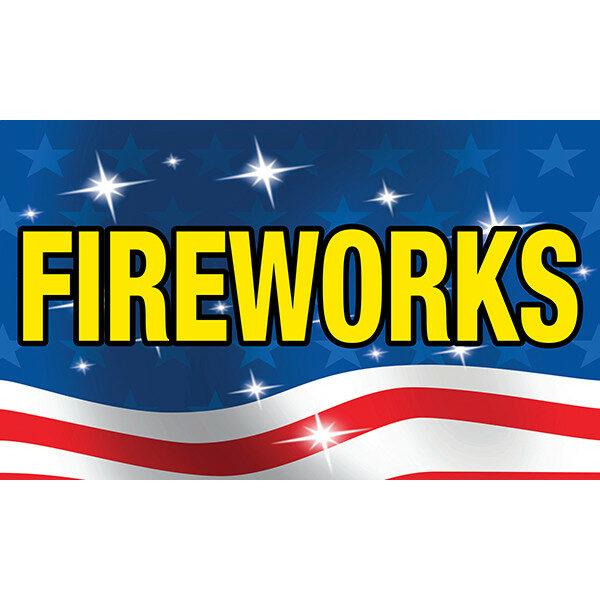 "3' x 5' Flag - Patriotic/Flag ""FIREWORKS"""
