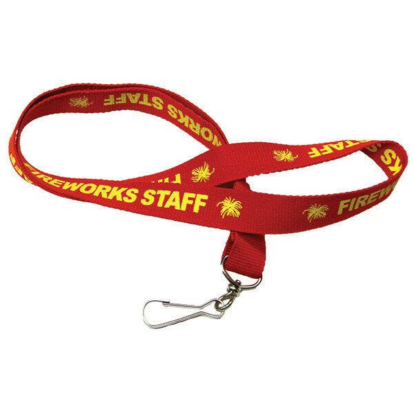 PNL-FS FIREWORKS STAFF RED LANYARD