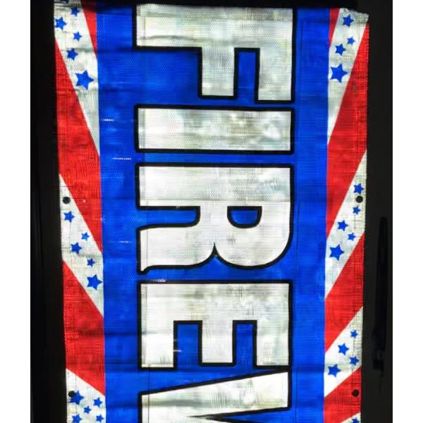 Patriotic Reflective Banner