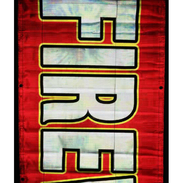 Red Reflective Banner