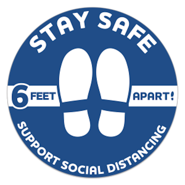 Stay Safe Floor Decal