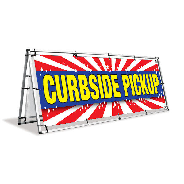 Curbside-A-sign banner